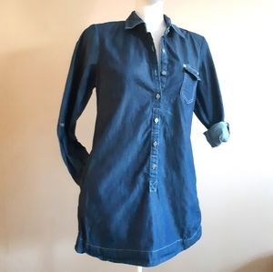 Liz Claiborne | vintage pocketed denim shirt tunic